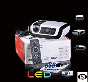 Rex-cine® Latest 1080p Dlp Android 4.0 WIFI ICS Osram LED Lamp Technology Projector RX-C7