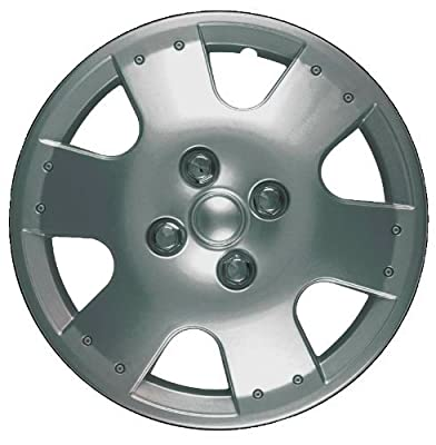 CCI IWC193-14S 14 Inch Clip On Silver Finish Hubcaps - Pack of 4
