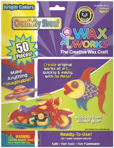 Chenille Kraft Wax Works Bright Hues, 50-Piece