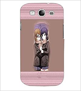 PrintDhaba Besties D-3017 Back Case Cover for SAMSUNG GALAXY S3 (Multi-Coloured)