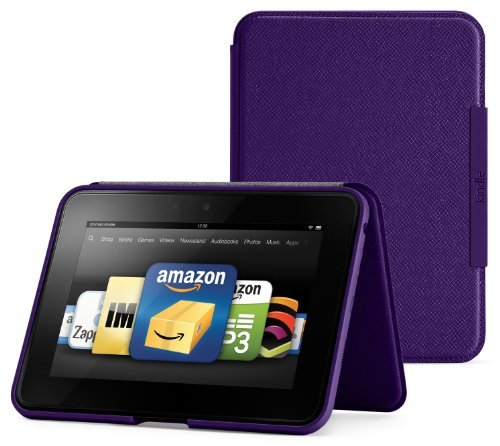 Amazon Kindle Fire HD Standing Leather Cover, Royal Purple (will only fit Kindle Fire HD)