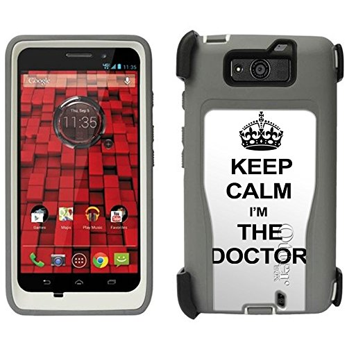 Otterbox Defender Keep Calm And I'M The Doctor Case For Motorola Droid Ultra