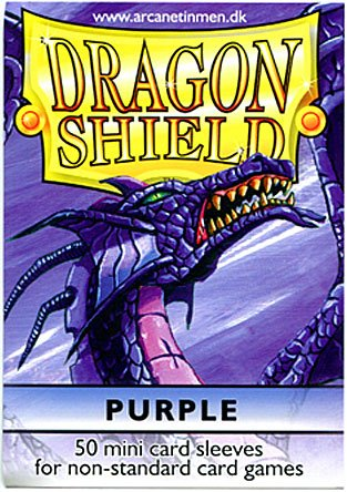 Dragon Shield Card Supplies YUGIOH Card Sleeves Purple 50 Count