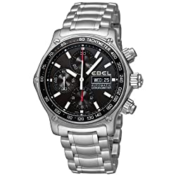 Ebel Men's 9750L62/53B60 1191 Discovery Chronograph Black Dial Watch from Ebedee