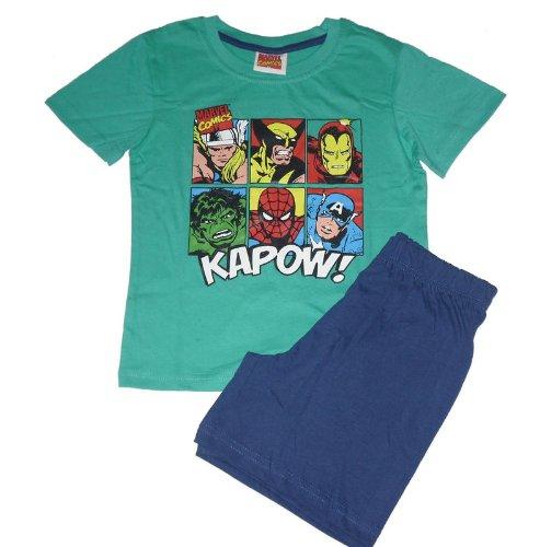 Boys Marvel Hero Spiderman/Hulk Short Pyjamas