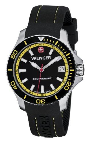 Wenger 01.0621.101 - Orologio da polso donna, silicone, colore: nero