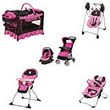 Disney Baby Stroller and Travel System Gear Bundle Collection with Stroller,Car Seat, Playard Playpen with Bassinet and Diaper Changer,Musical Swing, Walker, And/Or Diaper Bag (Minnie Dot)