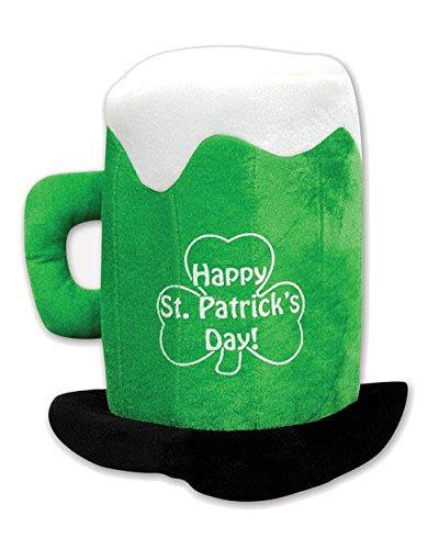 Beistle 30712 Plush St.Patrick's Day Beer Mug Hat - 1