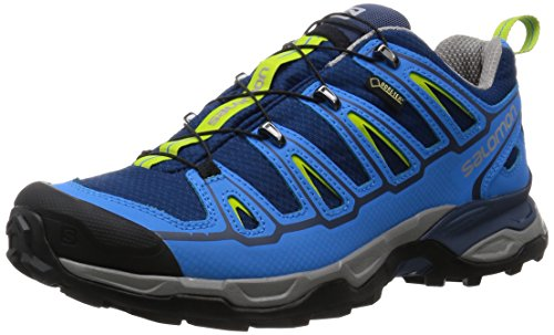 Salomon X Ultra 2 Gtx, Scarpe da Arrampicata Basse Uomo, Blu (Midnight Blue/Process Blue/Green Glow), 42 2/3 EU
