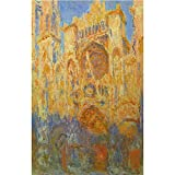 Art Panel - Claude_Monet - Rouen Cathedral Facade at Sunset