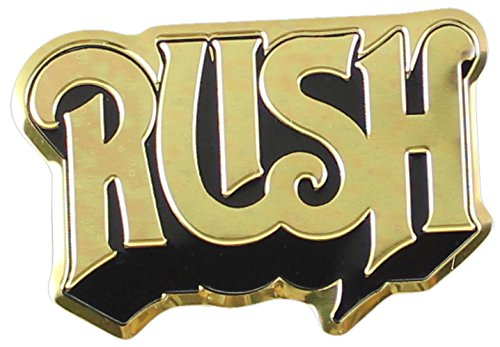 C&D Visionary RUSH Logo Metal Sticker, Gold, 5cm