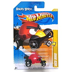 ANGRY BIRDS RED BIRD Hot Wheels 2012 New Models Series #47/50 Red Bird 1:64 Scale Collectible Die Cast Car