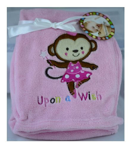 "Northpoint Baby Blanket Ballerina Monkey ""Upon a Wish"" - 1"