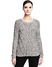 Autograph Cable Knit Monochrome Jumper