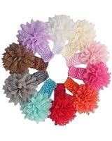 QS® Baby Girl Headbands with Chiffon , Lace Flower Petal