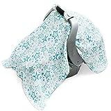 uelegant Baby-Funda para asiento de coche compatible con todos los asientos de coche-suave, ligero, transpirable,, Premium 100% muselina de algodón, diseño Design-Perfecta Para Proteger Su Baby Boy or Girl (estrellas), color verde