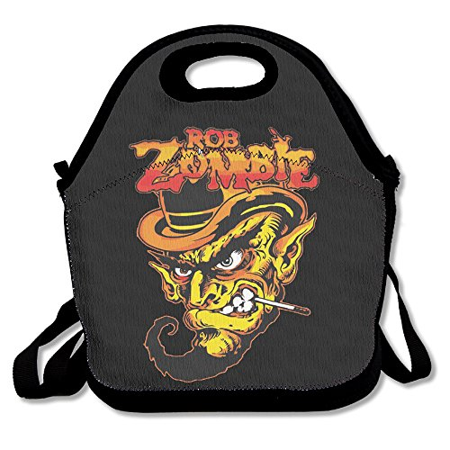 Rob Zombie Devil Seal Lunch Bag Travel Zipper Organizer Bag, Waterproof Outdoor Travel Picnic Lunch Box Bag Tote With Zipper And Adjustable Crossbody Strap (Doc Mcstuffins Toaster compare prices)