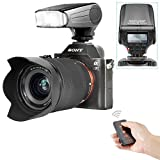 Neewer® NW320 TTL LCD Display LED-Assistive Preview Focus flash Speedlite Kit for Sony A7/ A7R/ A7S/ A7 II / A6000/NEX6, includes (1)NW320 flash for Sony + (1)IR Wireless Shutter Release