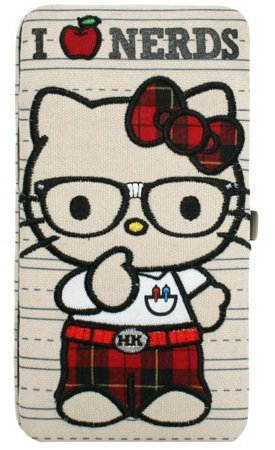 Loungefly Hello Kitty I Love Nerds Opera Metal Frame Wallet