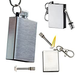Permanent Match Stick Match Box Smoking Lighter / Key Chain - Silvery Gray