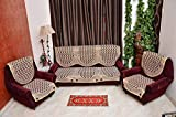 RSHP 5 SEATER MAROON COFFEE COTTON SOFA COVER