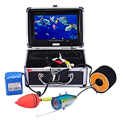 KKmoon Fish Camera Underwater 15M Underwater Fish Finder HD 1200TVL Camera for Ice/Sea/River Fishing with 7in LCD Monitor from KKmoon