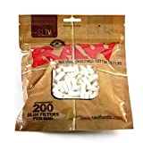 RAW Slim Cigarette Filter Tips Bundle - 5 Bags - 1000 Filter Tips - All Natural