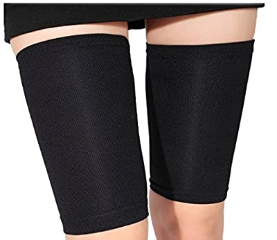 Yosoo 1 Pair Women Fat Burn Elastic Slimming Leg Socks, Massager Compression Thigh Leg Shaper Wrap Belt