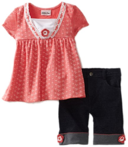 Sales Little Lass Girls 2-6X 2 Piece Bermuda Short Set