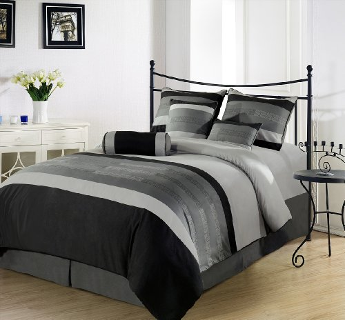 Black Queen Bed Set 178304 front