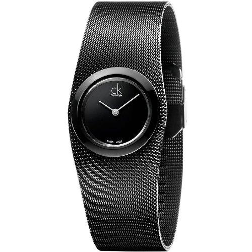 Calvin Klein K3T23421 27mm Stainless Steel Case Black Steel Bracelet Mineral Women's Watch
