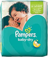 Pampers Windeln Baby Dry Gr. 3 Midi 4-9 kg Monatsbox, 1er Pack (1 x 198 Stück)
