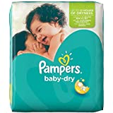 Pampers - Baby Dry - Couches Taille 3 Midi (4-9 kg) - Pack économique 1 mois de consommation x198 couches