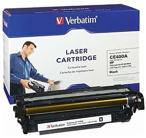 Verbatim Remanufactured Toner Cartridge Replacement for HP CE400X ( Black , 1-Pack )