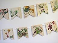 British spring flowers bunting / garland