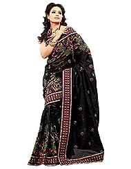 Prafful Tassar Silk Saree (Gs96901 _Black)