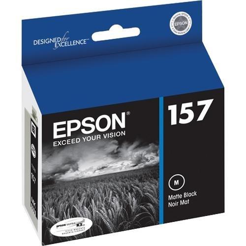 Epson UltraChrome K3 157 Inkjet Cartridge (Matte Black) (T157820)