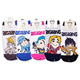 Big Bang Last Farewell Kpop Socks 5 Pairs Featuring Taeyang, G-Dragon, Top, Seungri & Daesung ~ Apple Socks