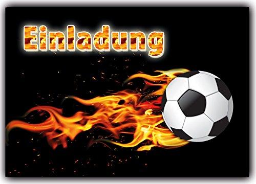 10 Einladungskarten Fussball Kindergeburtstag Einladung Einladungen Karte Einladungs-Set Motto