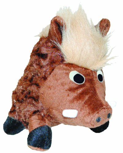 Patchwork Pet Swirl Warthog 14-Inch Squeak Toy for Dogs