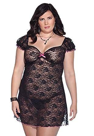 Amazon.com: Coquette Women's Plus-Size Kissable Queen Sized Stretch