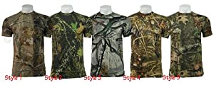 Camouflage Tree Print Camo T Shirt Army / Military / Hunting / Fishing - B46