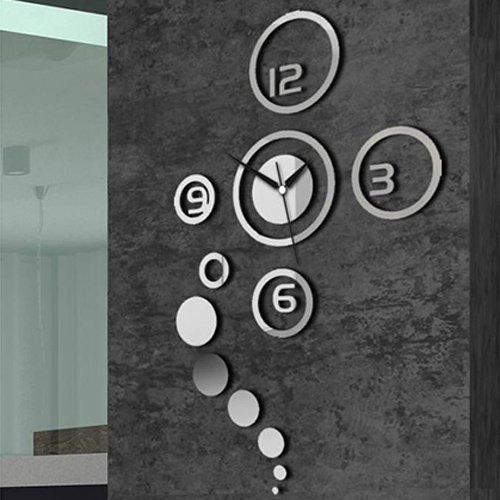LightInTheBox 40H Creative Mirror Acrylic wall clock Home Decor Design Wall Clocks
