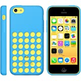 iProtect Silikon Schutzhülle iPhone 5c Case hollow dots blau
