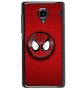 Printvisa Spiderman Face On Red Background Back Case Cover for Xiaomi Redmi 1S::Xiaomi Redmi (1st Gen)