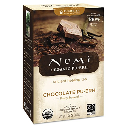 Numi Organic Tea NUM10360 Numi Chocolate Pu-Erh Tea, 16 Per Box (Numi Chocolate Puerh compare prices)