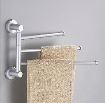 towel holder 3 swivel bars aluminium bath rack