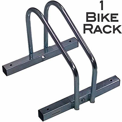 EasyGo Single Bike Wheel Rack - Floor Stationary Garage Bicycle Stand - Heavy Duty Steel Design – Storage for all Standard Bikes –1 Bike Rack