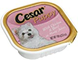 Cesar Canine Cuisine Puppy with Chicken & Beef In Meaty Juices for Small Dogs, 3.5-Ounce Cans (Pack of 24)