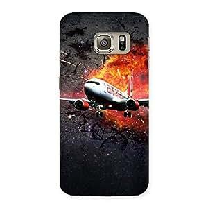 Delighted Premier Blast Plain Multicolor Back Case Cover for Samsung Galaxy S6 Edge Plus